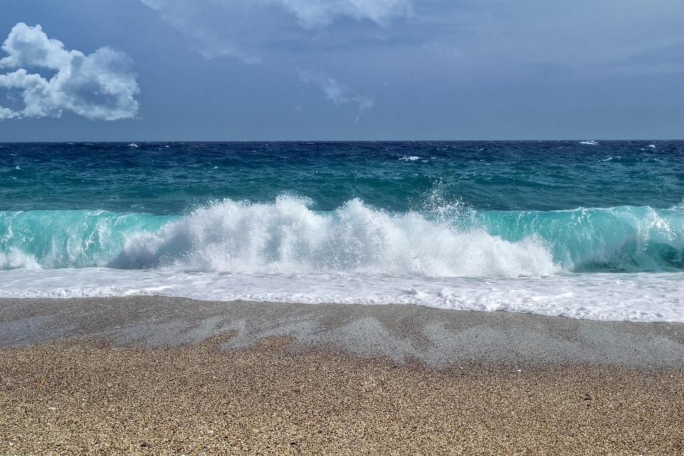 Wave, Sea, Beach, Sand, Blue, Carboneras, Almeria, Sky
