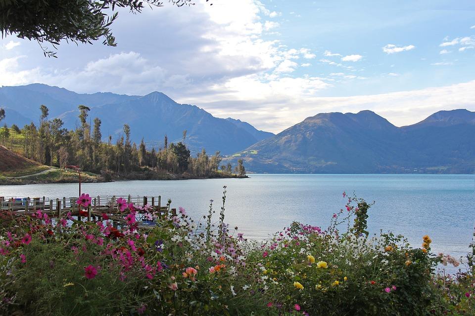 Scenic S, Amazing, Beautiful, Mountain, Sea, Blue, Sky