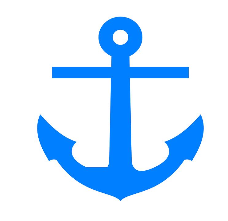 Anchor, Blue, Boat, Ocean, Sea, Maritime, Nautical