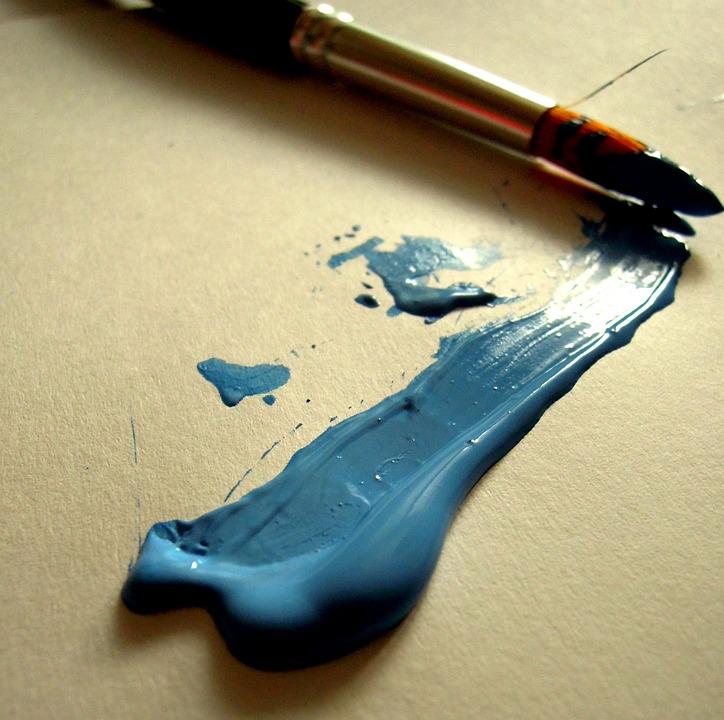 Paint, Painter, Artist, Brush, Blue, Color, Paper