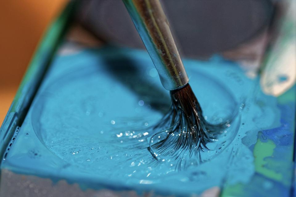 Brush, Blue, Paint, Hair Brush, Brush Hair, Watercolor