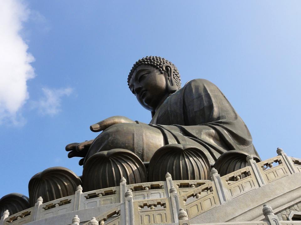 Lantau Island, Buddha, Sky, Blue