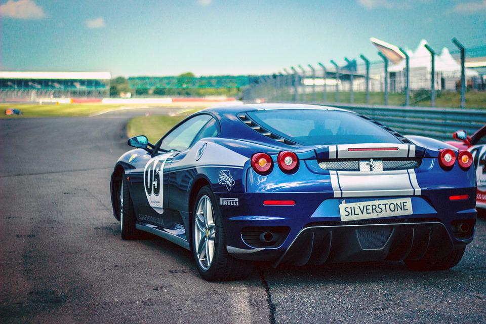Car Race, Ferrari, Racing Car, Pirelli, Speed, Blue