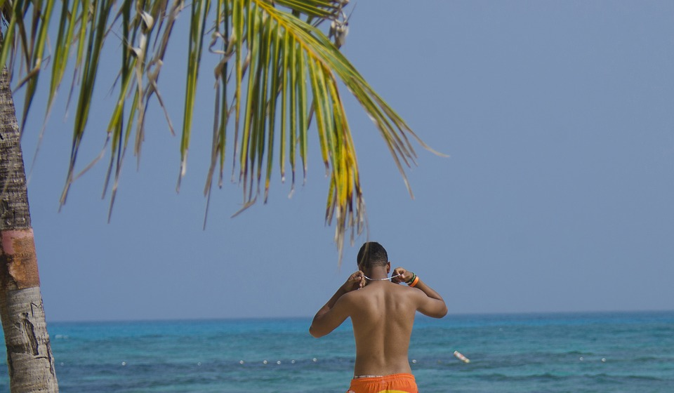 Holiday, Caribbean, Sea, Blue, Sanandres, Male, Person