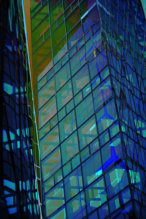 Window, Blue, Glass House, Architecture, Facade, City