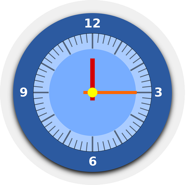 Clock, Time, Watch, Blue Time, Blue Clock, Blue Watch