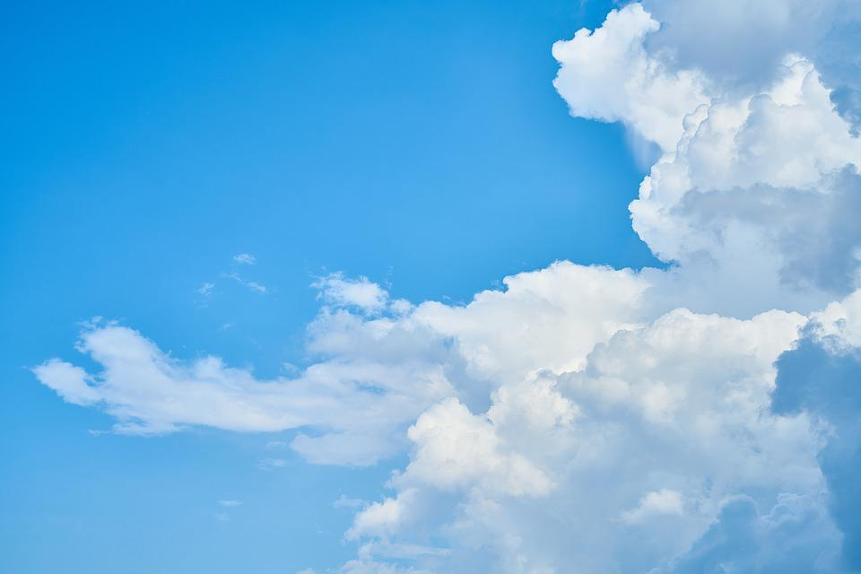 Cloud, Blue, Abstract Pattern, Selective Focus