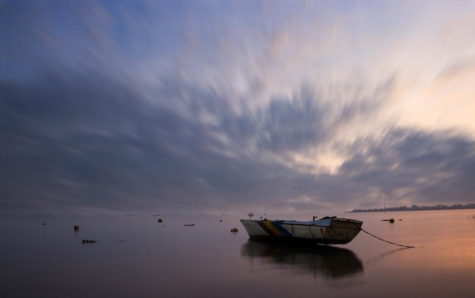The Sea, Blue, The Sky, Cloud, Indonesian, Sunset