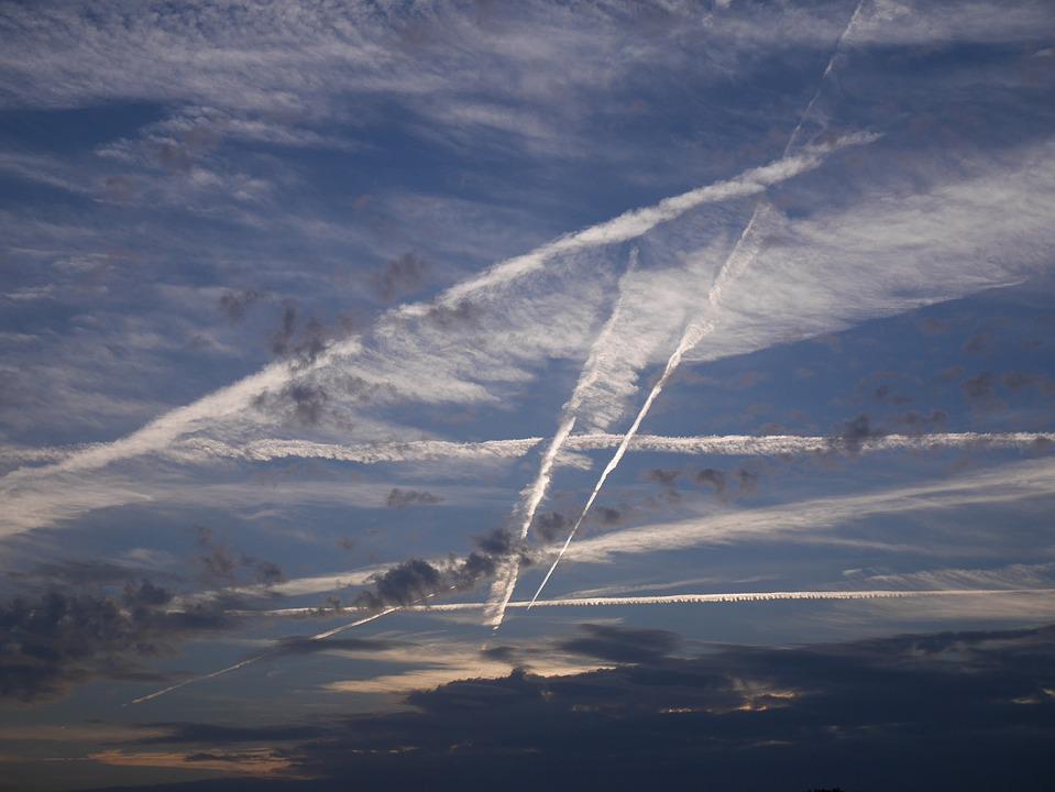 Sky, Clouds, Blue, Contrail, Drama