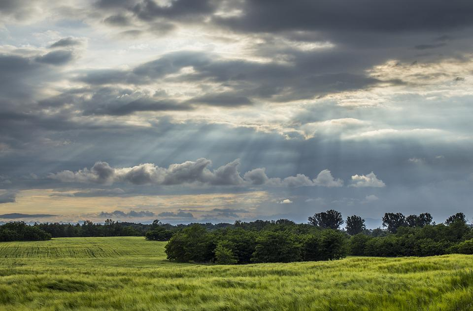 Clouds, Green, Beautiful Landscape, Grass, Blue, Nature