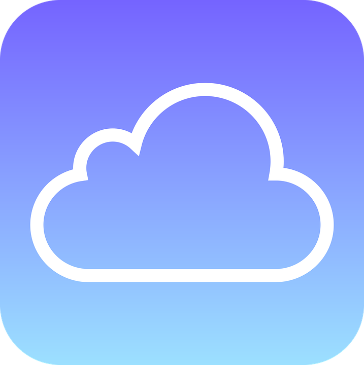 Blue, Cloud, Icon, Simple, White, Blue Clouds