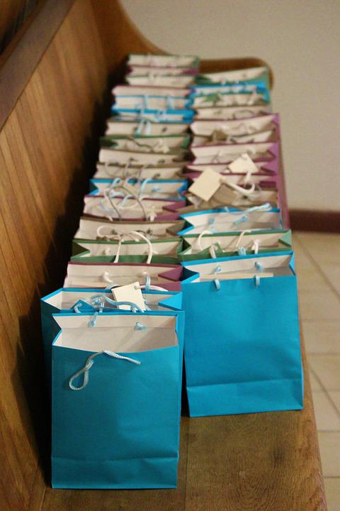 Bags, Gifts, Colorful, Blue