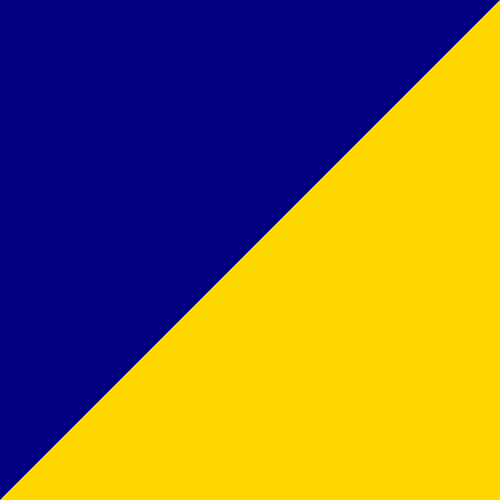 Blue, Yellow, Triangle, Square, Colors, Yellow Color