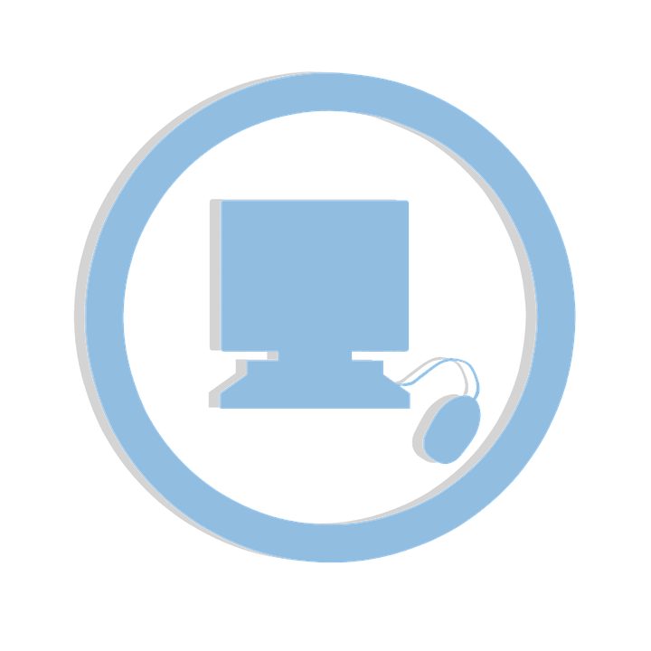 Icon, Computer, Sticker, Clipart, Blue, Isolated