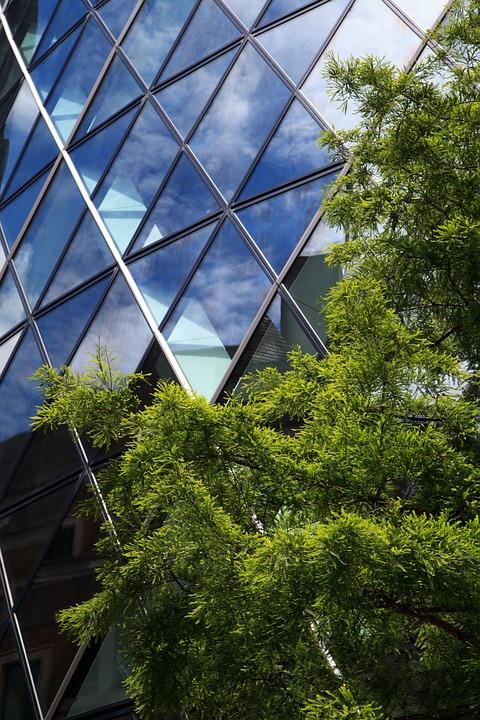 Architecture, Blue, Building, Business, Concept