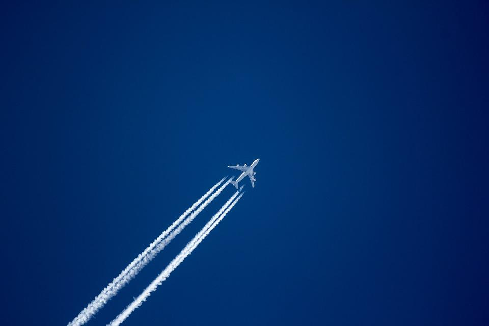 Aircraft, Sky, Fly, Blue, Contrail, Aircraft Noise