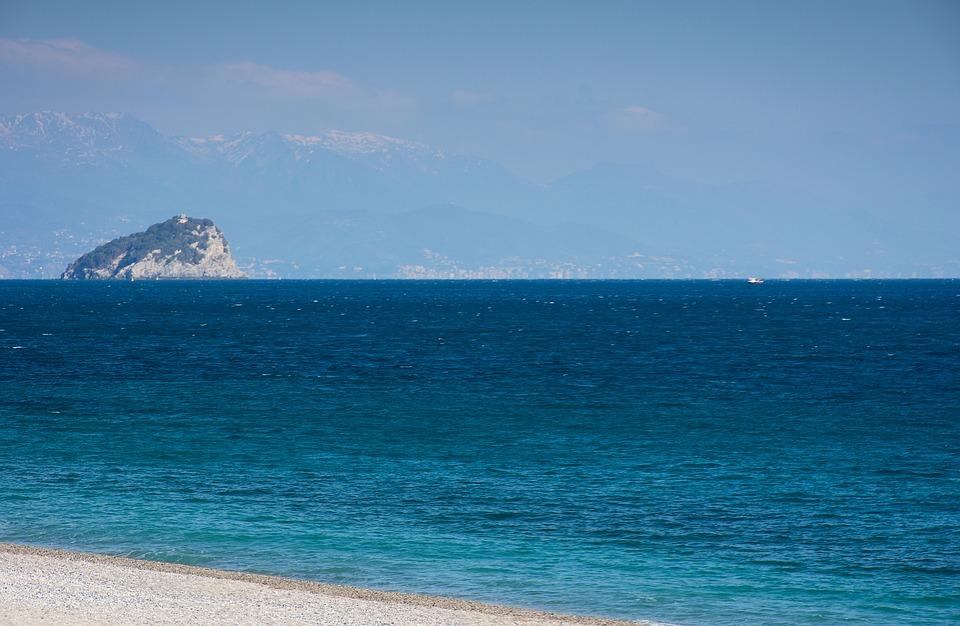 Sea, Beach, Sand, Landscape, Sky, Onda, Blue, Costa
