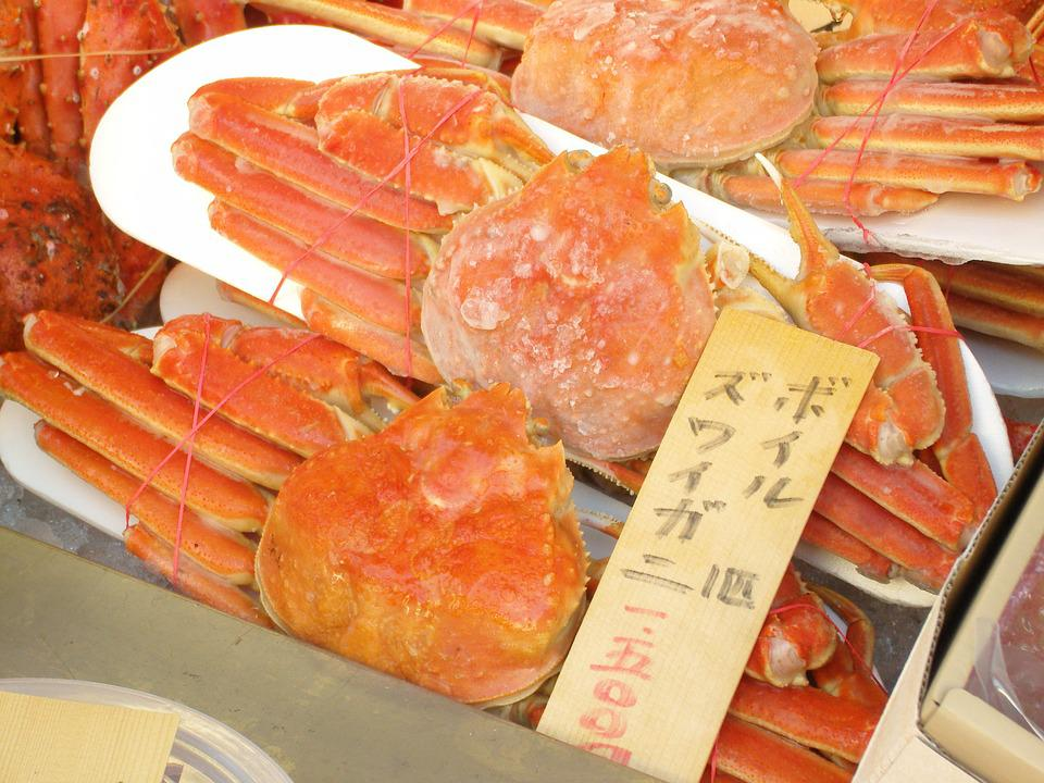 Market, Blue Crab, Red