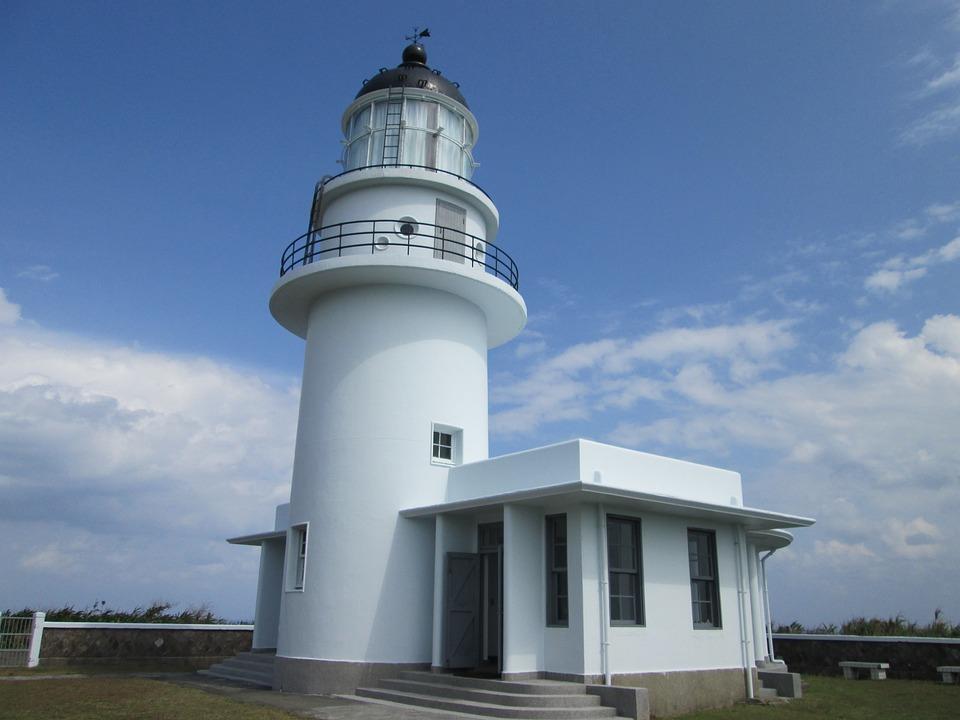 Lighthouses, Three Marten Corner, Blue Day, Tri-creek