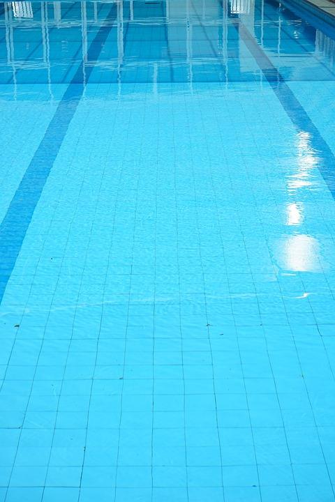 Swimming Pool, Lane, Train, Water, Blue, Demarcation