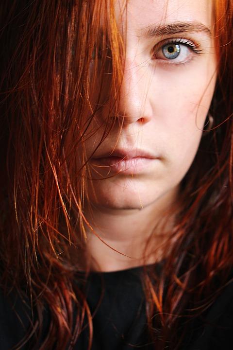 Blue Eyes, Portrait, Self-portrait, Blue, Look, Woman
