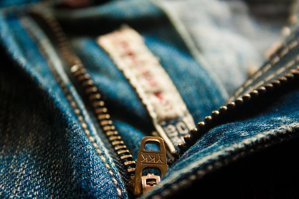Zip, Zipper, Fly, Jeans, Blue, Pocket, Fashion