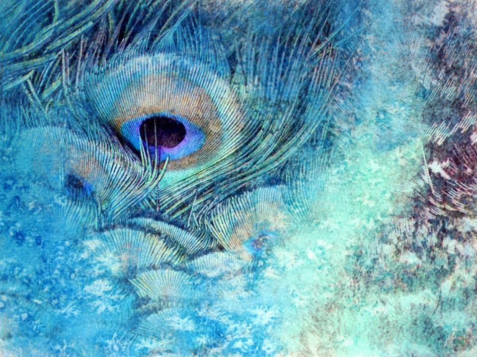 Art, Feather, Painting, Blue