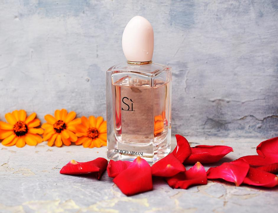 Perfume, Flowers, Rose Petals, Blue, Orange, Beautiful
