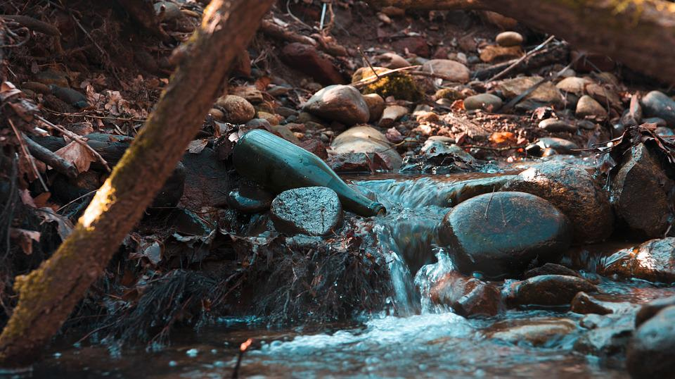 Bottle, Water, Glass, Bottles, Blue, Nature, Liquid