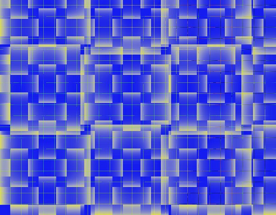 Wallpaper, Blue, Graphic, Art, Squares