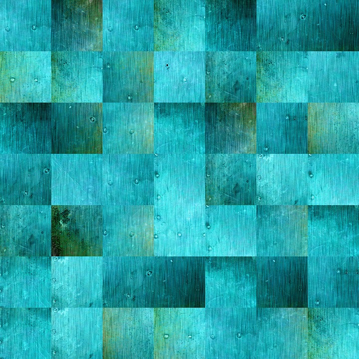 Background, Squares, Blue Green, Scrapbooking, Paper