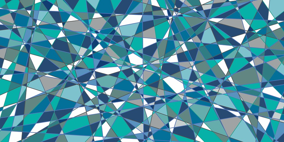 Abstract, Background, Blue, Teal, Geometric, Grey