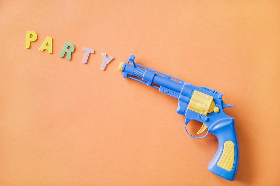 Background, Blue, Children, Colorful, Fake, Game, Gun
