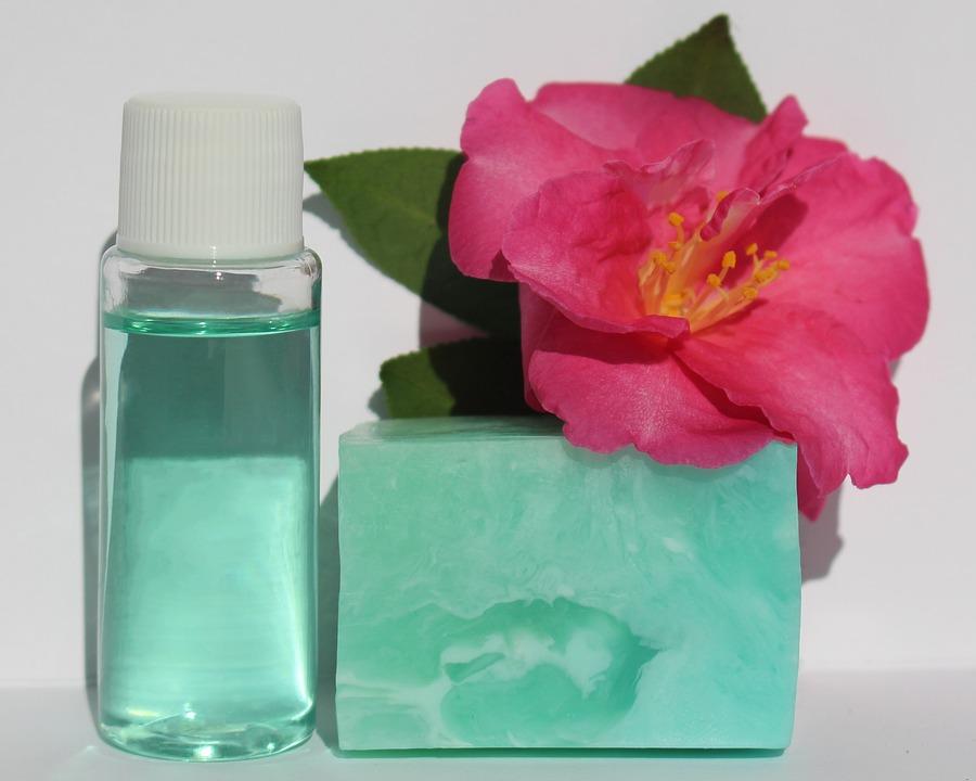 Hand Sanitizer, Bottle, Soap, Handmade, Blue, Hygiene