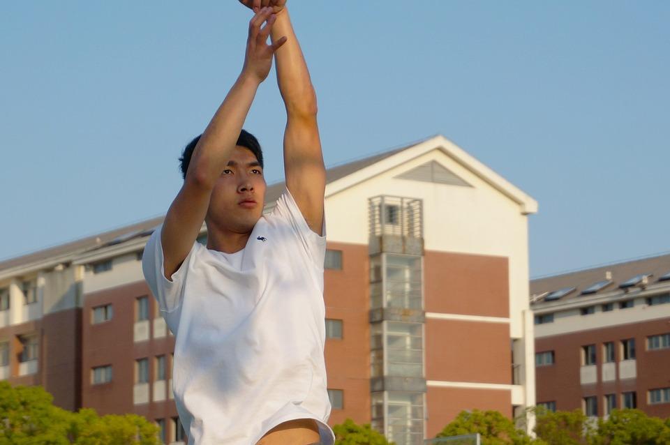 Handsome Guy, Focus, Basketball, Dunk, Blue, Game