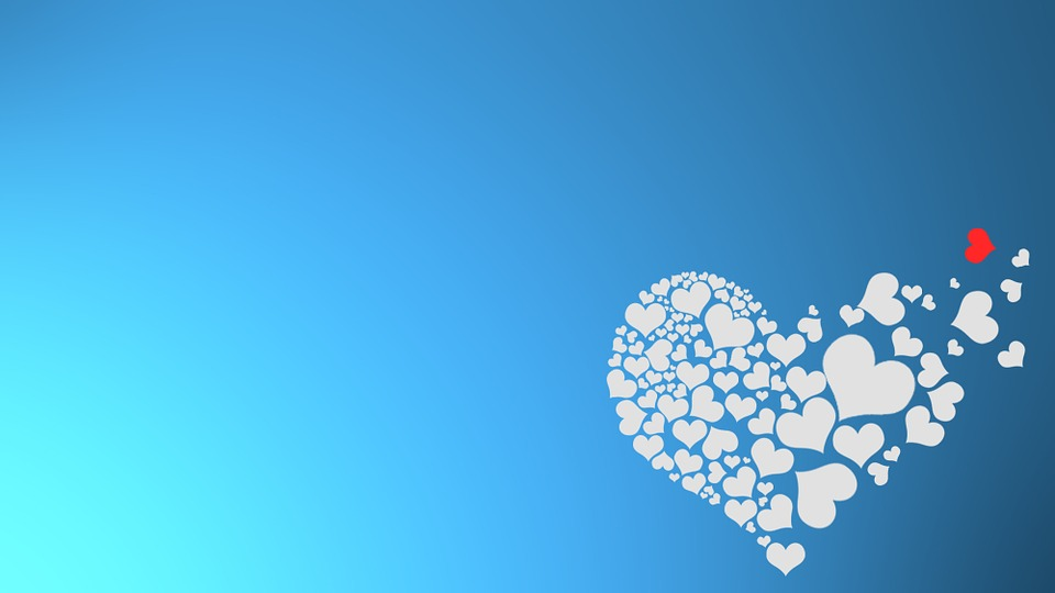 Background, Heart, Valentine's Day, Hearts, Red, Blue