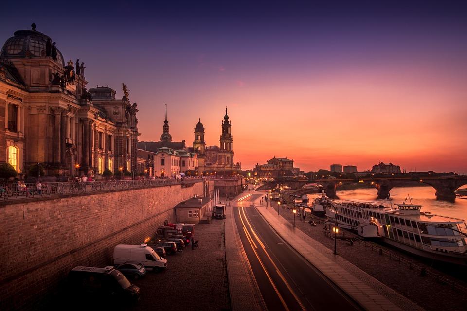 Blue Hour, Sunset, Evening, Sky, Lights, Abendstimmung