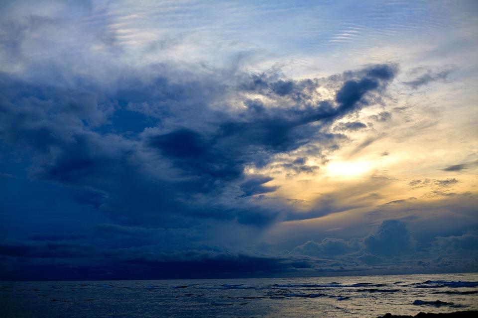 Sunset, Blue, Blue Hour, Sky, Cloud, Yellow, Sea
