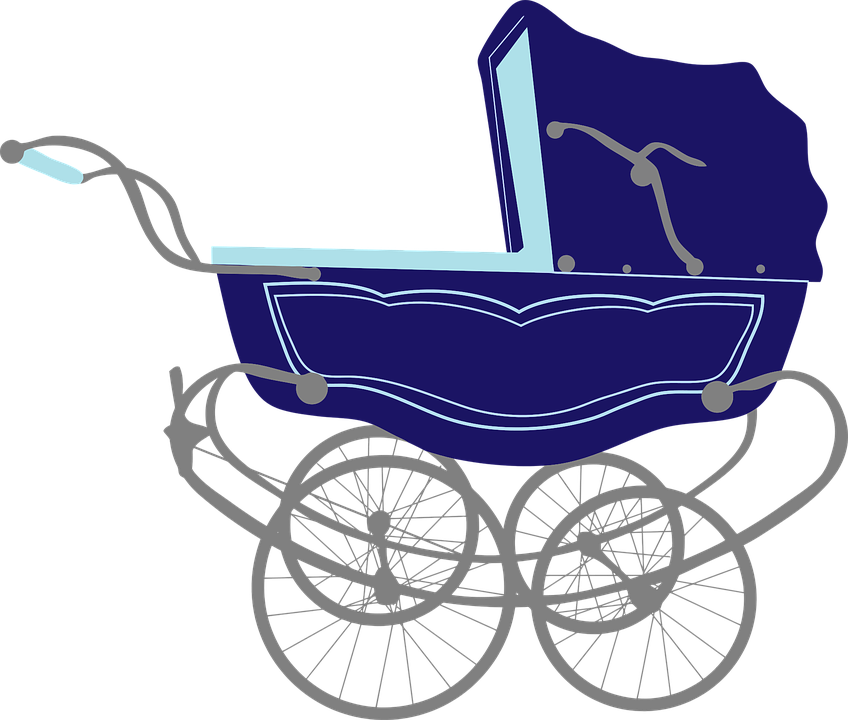 Baby, Blue, Carriage, Infant, Pram, Stroller