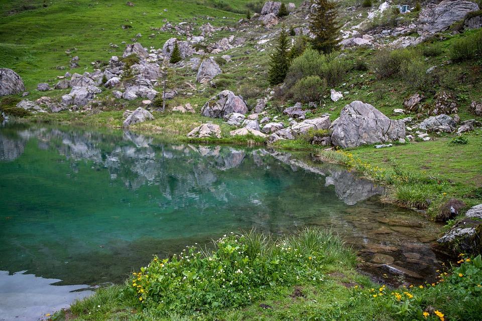 Lake Of The Fairies, Beaufortain, Savoie, Blue