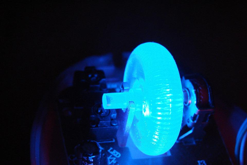 Electronics, Blue, Light, Led, Technology, Computers