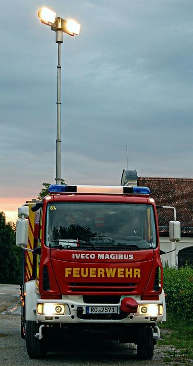 Fire, Rüstwagen, Blue Light, Exercise