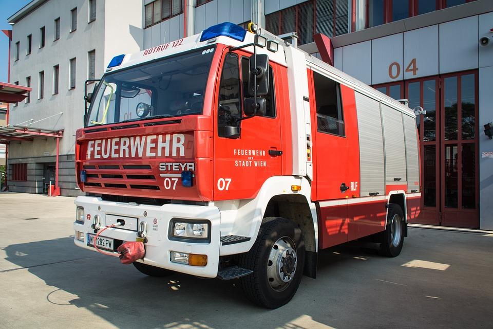 Fire, Vehicle, Fire Truck, Blue Light, Vehicles