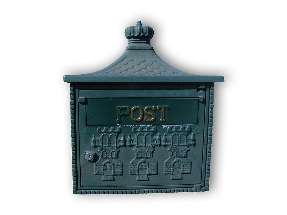 Mailbox, Post, Blue, Letter Boxes, Blacksmithing