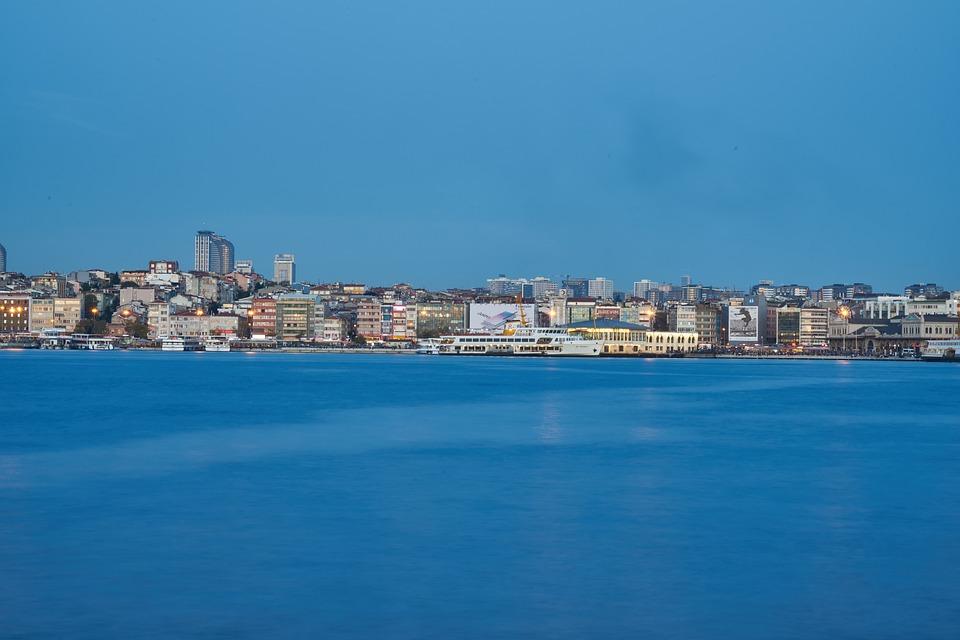 Marine, Blue, Water, Long Exposure, Wave, City