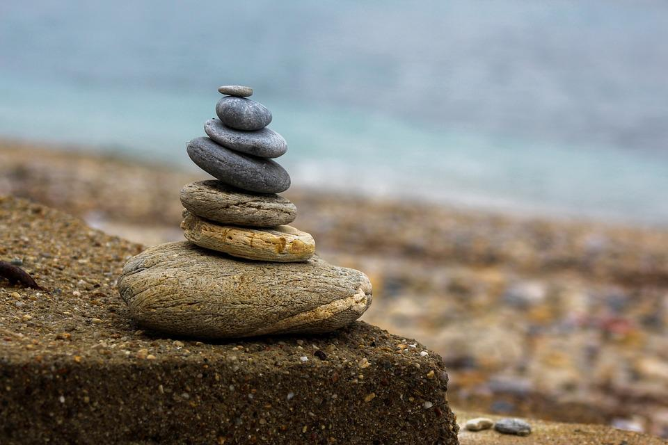 Stone, Beach, Marine, Blue, The Stones Are, Texture