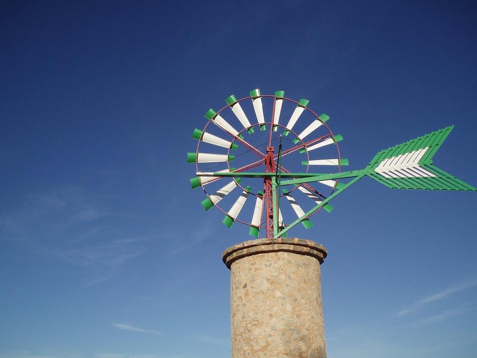Blue, Sky, Windmill, Mill