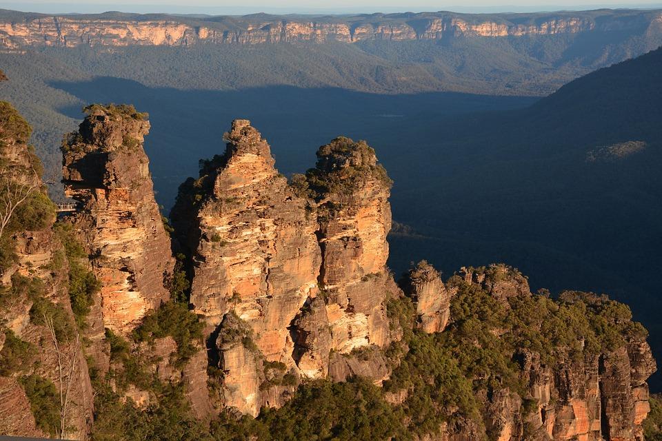 Australia, Blue Mountains, Landscape, Rock