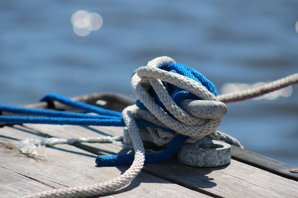 Rope, Cleat, Marina, Nautical, Tie, Dock, Knot, Blue
