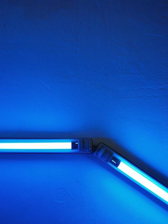 Light, Neon, Blue, Neon Light, Lighting, Lamps